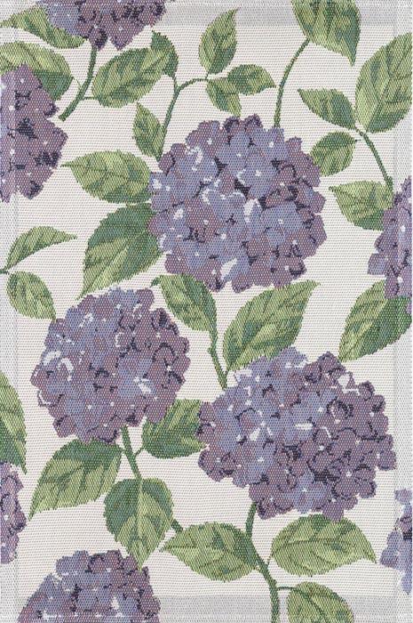 Handduk 40 x 60 cm Blå Hortensia