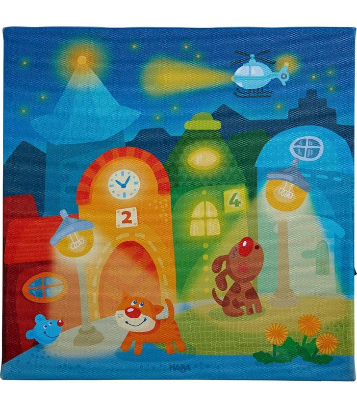 Haba Tavla med nattbelysning Staden