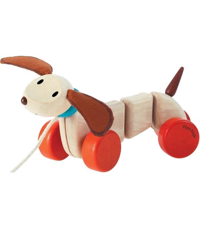 Plantoys Dragdjur Glad hundvalp
