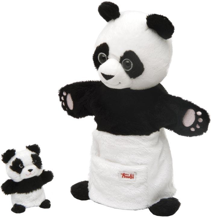 TRUDI handdocka Panda med fingerdocka