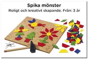 Kreativ leksak - Spika mönster